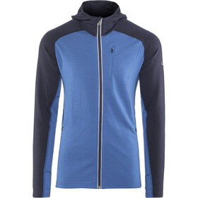 Icebreaker M's Quantum LS Zip Hood sea blue/midnight navy